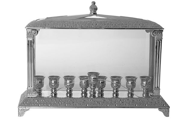 Picture of #2289 Silver Plated Menorah