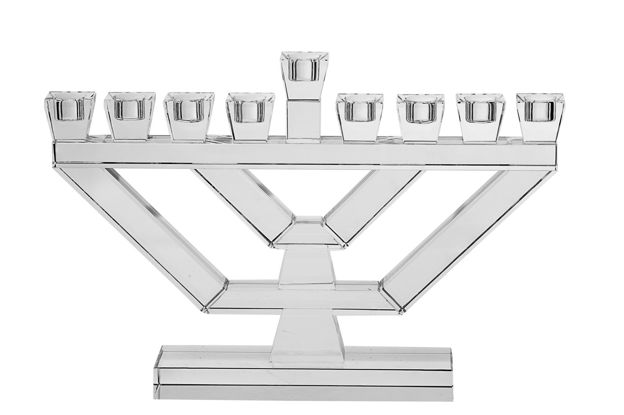 Picture of #175-LC Menorah Large Crystal Clear
