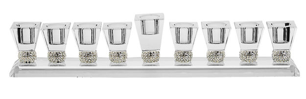 Picture of #180 Crystal Menorah with Stones