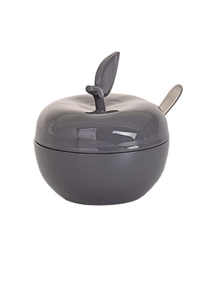 Picture of #479-GR Honey Dish Enamel Grey/Smoke