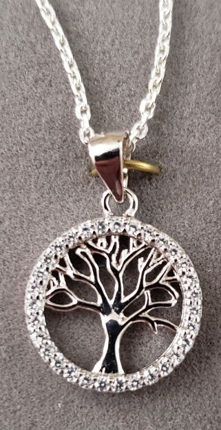 Picture of S329 Tree of Life circlet rimmed with sparking cubic zirconica